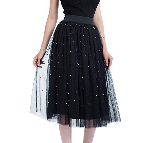3665388a3 Likecrazy Prinzessin Rock Damen Plissee Tütü Rock Frauen Plus Size Perle  Bubble Abendkleider Freizeit Streetwear Weihnachten Kleider Mädchen Mode ...