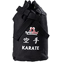 DanRho Karate Canvas Niños Saco Bolso Bolsa de deporte Karate de entrenamiento bolsa mochila mochila Kids 226018050Turn Negro Budo Mar Bolsa de deportes de lucha Kwon