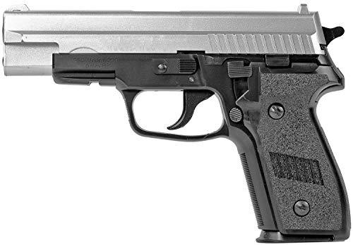 Nick and Ben Softair-Pistole schwer 19 cm ABS P229 Federdruck Spielzeug-Waffe max. 0,5 Joule bicolor im Set mit 6 mm BB Airsoft Munition