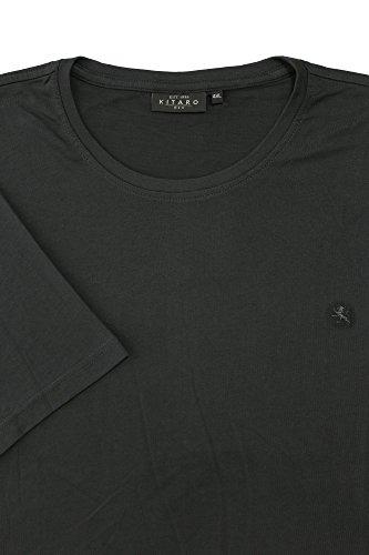 Basic T-Shirt von Kitaro in grau melange Anthrazit
