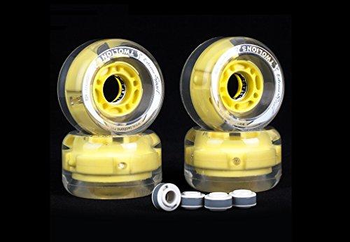 twolions Pro skates-drift Skate, silber Hochfestes Aluminium Legierung Halterung, 72mm * 44mm PU-Räder mit ABEC-7High-End bearings-led Flash Rollen, Yellow LED Flash Wheels