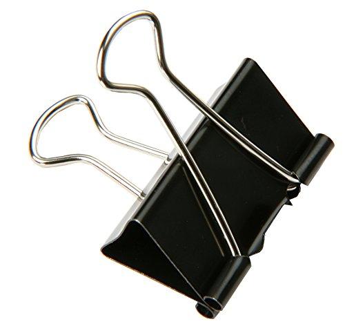 SBS® Binder Clips | 25mm | 30 Stück | Metallklammern | Büroklammern | Papierhalter (Binder Clip)