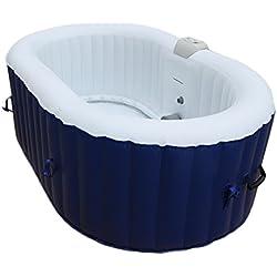AQUAPARX Whirlpool AP-550SPA *oval 190x120cm* Pool 2Personen Wellness Spa Whirlpoolzubehör Badewanne 2P Wanne Indoor Outdoor Heizung aufblasbar