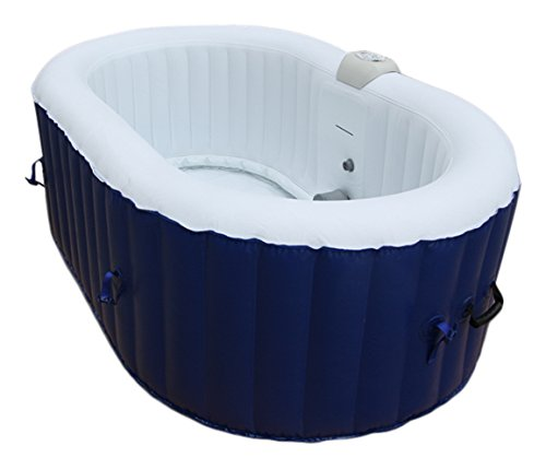 AQUAPARX Whirlpool AP-550SPA *oval 190x120cm* Pool 2Personen Wellness Jacuzzi Spa Indoor Outdoor Heizung aufblasbar