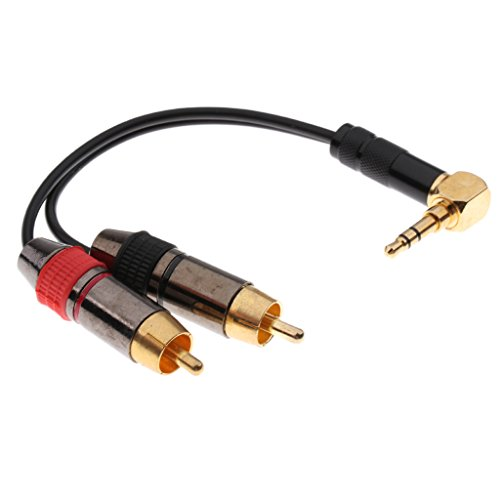 MagiDeal 1 x 3,5 mm auf XLR Audio Kabel Konverter Mikrofon Kabel Adapter Stecker auf Stecker für iPod Laptop