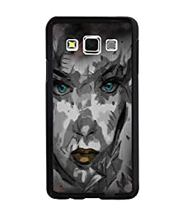 Fuson Night Haunted Girl Face Back Case Cover for SAMSUNG GALAXY A3 - D4116