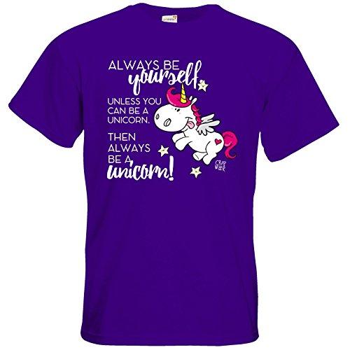 getshirts - Crapwaer - T-Shirt - Regenbogenpony Purple