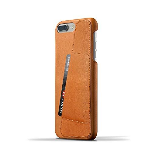 iPhone 7, iPhone 8 [New Luxury Leather Wallet Case] MUJJO LEATHER WALLET véritable tanné végétal, robuste antichute, fente pour 2-3 cartes, protection d'écran surélevé, Noir Tanné
