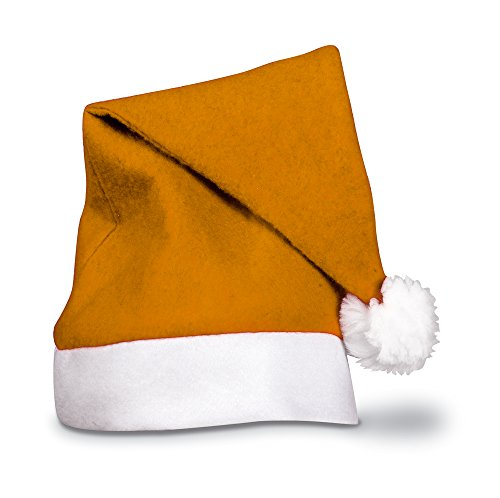 eBuyGB 1203510–10 Festive Christmas Santa Hat, Orange, One Size