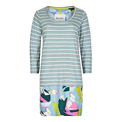 Weird Fish Mandovi Print & Stripe Tunic Faded Jade Size 18