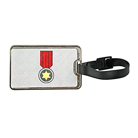 Metal luggage tag with star award