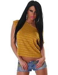 Voyells - Camiseta - Rayas - Cuello redondo - para mujer