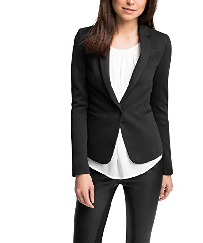 ESPRIT Collection Damen Blazer 995EO1G905, Gr. 38, Schwarz (BLACK 001)