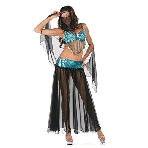 FENGHAO Frauen-Bauchtanz-Tanz-Halloween-Karnevals-Kostüm-Satz