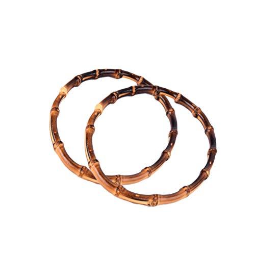HEALIFTY 2 stücke Bambus Taschenhenkel Taschenbügel Holz Geldbörse Rahmen DIY Griff für Handtasche Geldbeutel Münzbörse Verschluss -