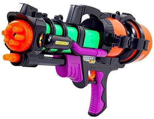 (Dominiti XXL Wasserpistole mit großem 1,5Liter Tank - perfekt für den Sommer und Urlaub)