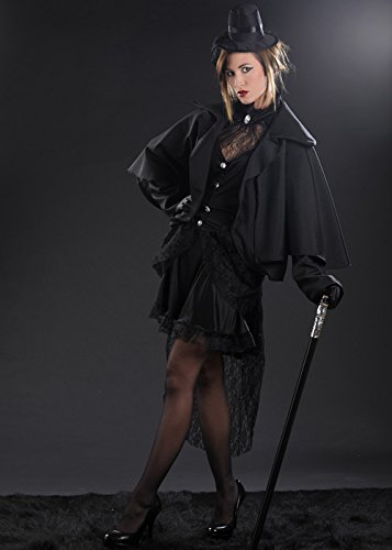 Damen Halloween Viktorianische Gothic Witwe Kostüm Small (UK 8-10)