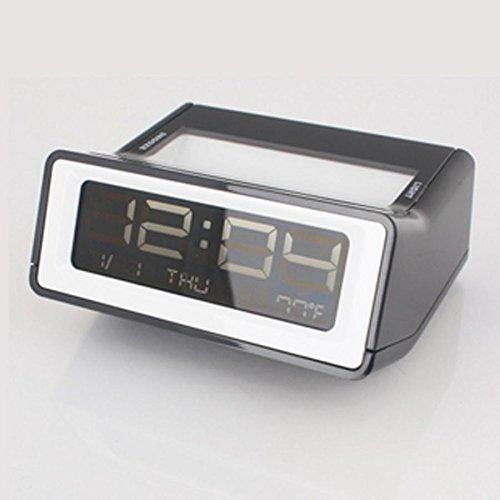 Preisvergleich Produktbild ZHGI einfach kreative Stummschalten der Alarm mit Schlummer-Funktion,  leuchtende multi-funktionale führte die verbesserte Version des Kompakten Wecker ,  schwarz
