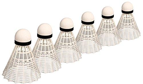 Avento Cork Badminton Federbälle Im Behälter, Weiß/Schwarz, One Size