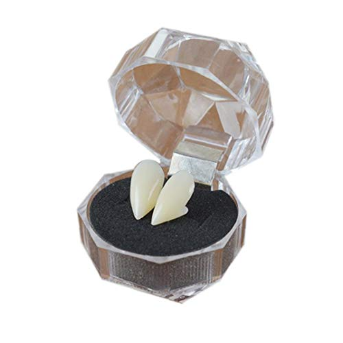 1pairs Denti del Vampiro Personalizzato Fangs Vampire Fangs Protesi Falso per Il Partito di Cosplay Props Halloween Party Zanne Favors Favori di Partito Vestire Accessori (15mm)