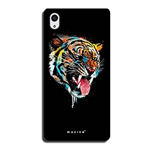 Mozine Rainbow Tiger printed mobile back cover for Sony xperia m4