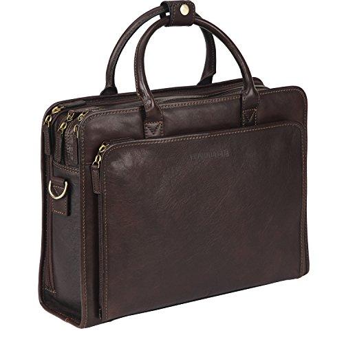 Banuce Aktenkoffer Herren Italinisches Leder Rindleder laptoptasche 14