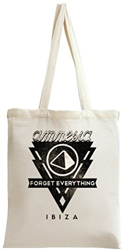 Amnesia - Forget Everything In Ibiza Black Logo Tote Bag