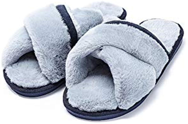 Chaussons d'intérieur en mousse antidérapants Chaussures de coton non non non glissantes de Chambre de femmes de pantoufles...B07KF6D7KBParent 260933