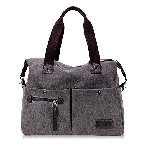 Nlyefa Damen Canvas Handtasche/Umhängetasche groß, Vintage Schultertasche Hobo Bags für tägliches Leben Schule Büro Reise EINWEG