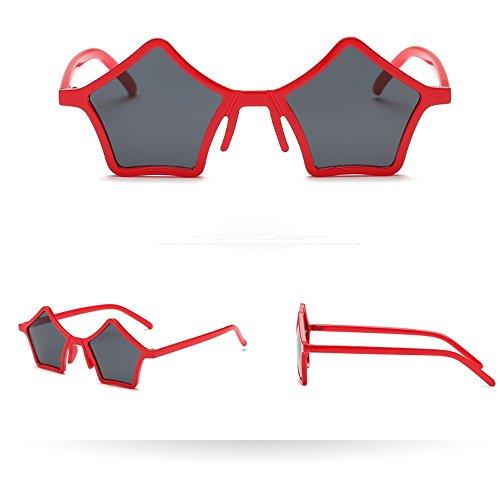 SUMTTER Sonnenbrille im Klassiker Stil Verspiegelte Transparent Linse Vintage Mode Retro Damen & Herren Brille UV Schutz 400 Sternform