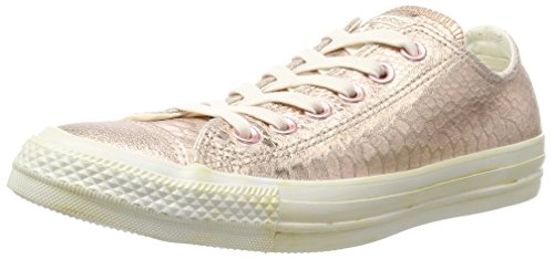 Converse Damen All Star Snake Sneaker, Mehrfarbig (Rosegold Metallic Reptile), 39.5 EU (Star Low Sneaker All Converse)