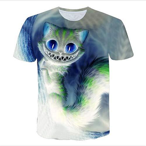 3D Print Weste Herren Tank Top Fitness Ärmelloses Shirt Herren Bekleidung Sportswear Unterhemd Sommer,3D Science Cat Blue 3XL