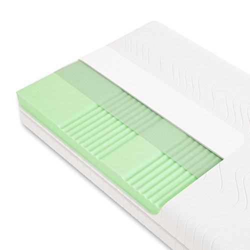 Schlummerparadies® hochwertige Matratze 7-Zonen HR-Kaltschaummatratze - Made in Germany - ca. 19cm Gesamthöhe, RG40, geprüfter Kern + Bezug - Optima Klassik (100x200cm, H3)
