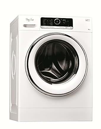 Whirlpool FSCR90421 Autonome Charge avant 9kg 1400tr/min A+++-20% Blanc machine à laver - machines à laver (Autonome, Charge avant, Blanc, Gauche, LCD, Acier inoxydable)