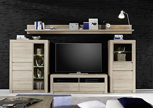 trendteam SV31445 TV Möbel Lowboard Eiche Sonoma hell, BxHxT 140x46x48 cm - 3