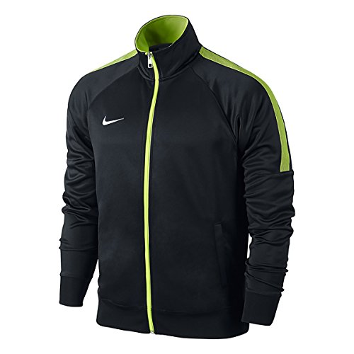 Nike Herren Jacke Team Club Trainer Jacket, Black/Volt/White, L -