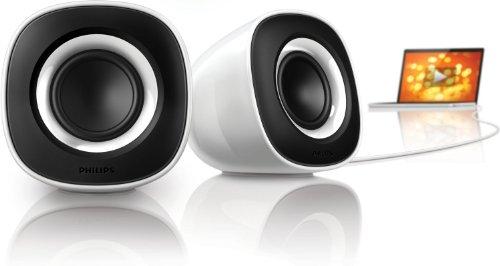 Philips SPA2201/10 Altavoces Multimedia 2.0 (Blanco)