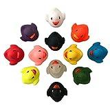 12er Bunte Badeenten Gummiente Schwimmente Enten Ducks Badezimmer Spielzeug Set