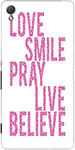 Snoogg Live Believe Case Cover For Sony Xperia Z3