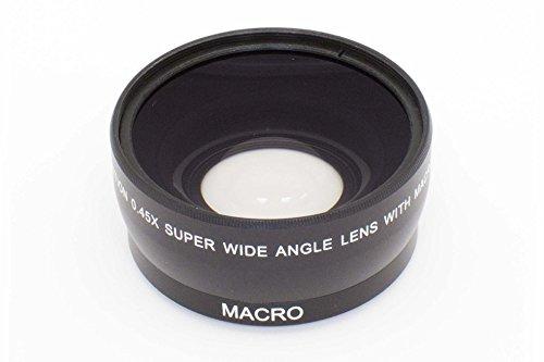 vhbw Weitwinkel Vorsatzlinse 55mm, Faktor 0,45x für Kamera Sony DT 4-5.6/55-200 Sam, DT 55-200 mm 4-5.6, FE 28-70 mm 3,5-5,6 OSS (SEL-2870).