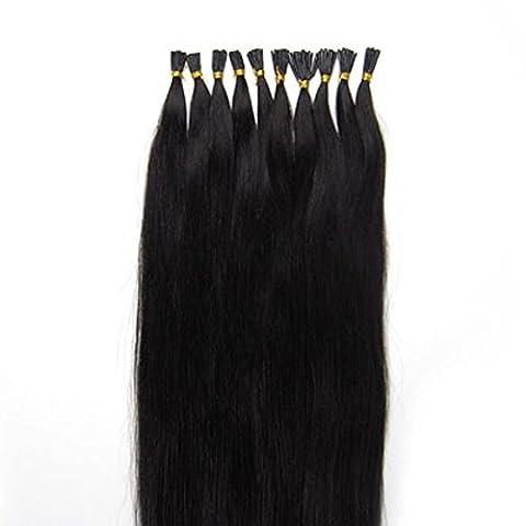 Carolswigs® 40,6cm 40g, 45,7cm 50g, 50,8cm 50g, 55,9cm 50g, 61cm 50g italien Kératine indiens 100% Premier Remy Extensions de cheveux humains Stick/I-Tip 5A *