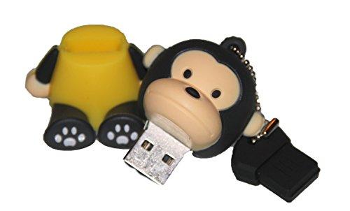 Tomax Scimmia seduta con camicia gialla, come un flash drive USB con 16 GB USB Flash Drive Memory Stick