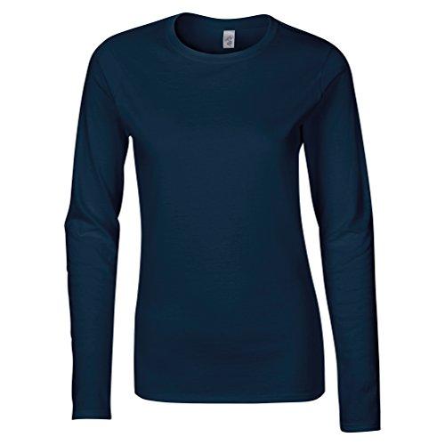 Softstyle ™ Frauen Langarm-T-Shirt Marine