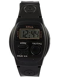 Hanumex® Digital Multifunction Talking Black Watch for Boys and Girls - Talk_Watch