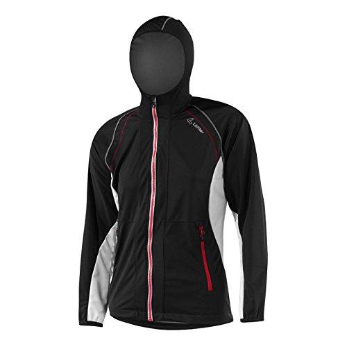 Löffler Windstopper Softshell Light Hooded Jacket Women - black-red