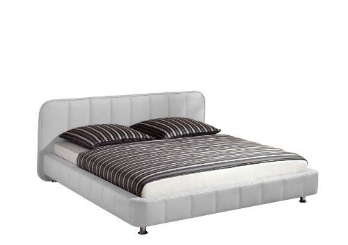 Maintal Betten 232735-4691 Polsterbett Zoe 140 x 200 cm, Kunstleder weiß