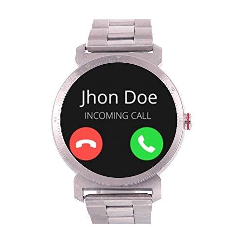 Watchout Wearables Elegant Gen2 Raw Steel Smart Watch with Heart Rate Monitor (Silver Steel)