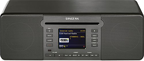 Sangean DDR-66 BT All-In-One-Musiksystem (Internet Radio, Bluetooth, WiFi, DAB+, Spotify-Player, CD, USB, SD, UKW-RDS, AUX-In, Fernbedienung) schwarz