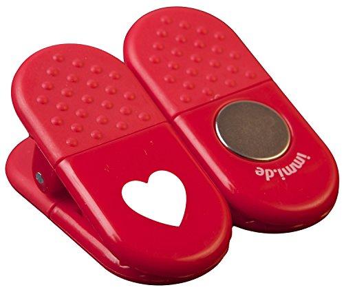 mern bzw. Magnet-Clips in Rot mit Herz als Danke-Zeichen (Danke Herz)