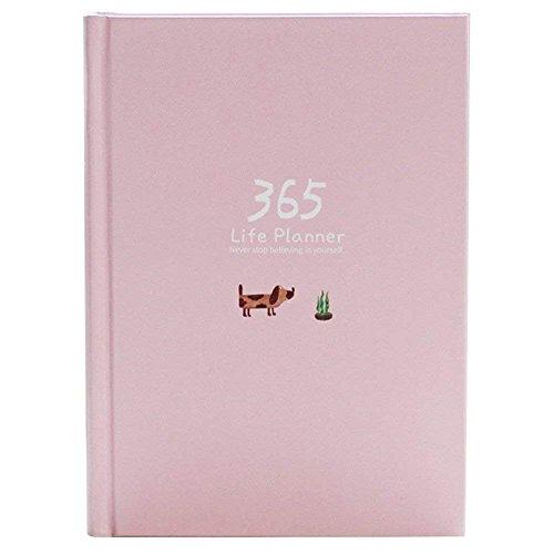 Agenda giornaliera, 2019 A5 A5 Organizer personale per abitudini e obiettivi, 114 fogli / 228 pagine (rosa)